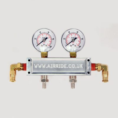Dual Needle Manifold Gauge Block