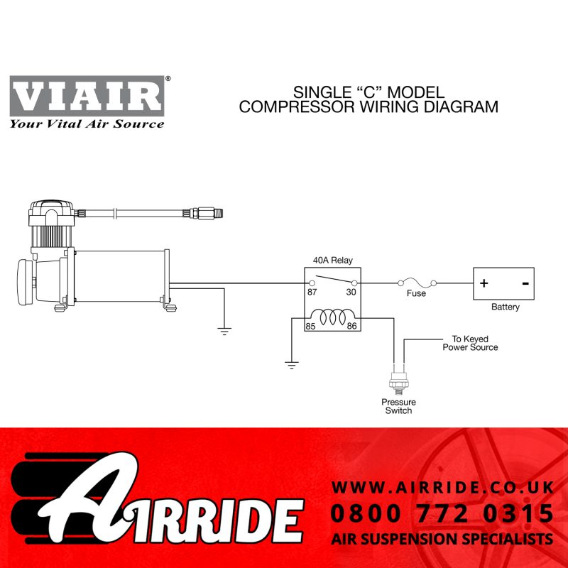 Viair Single Compressor Wiring Diagram