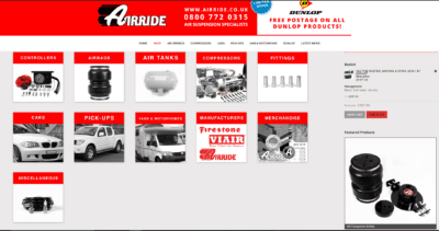 New AirRide website shop