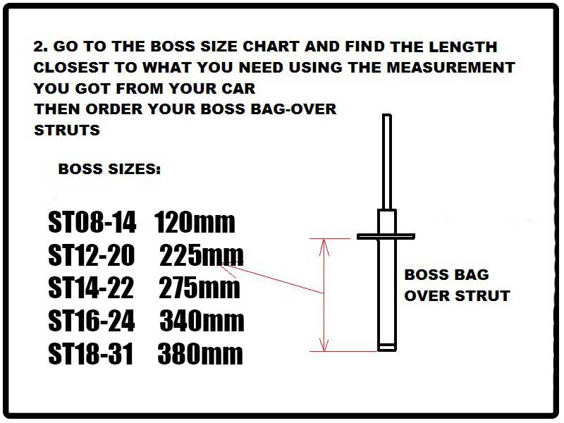 Boss Air Suspension Universal Strut Air-Strut-Measuring-2
