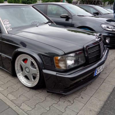 Mercedes W201 190 AirRide conversion