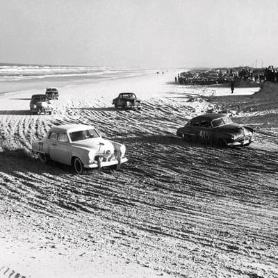 The iconic Daytona beach race course, the first course to host a NASCAR race
